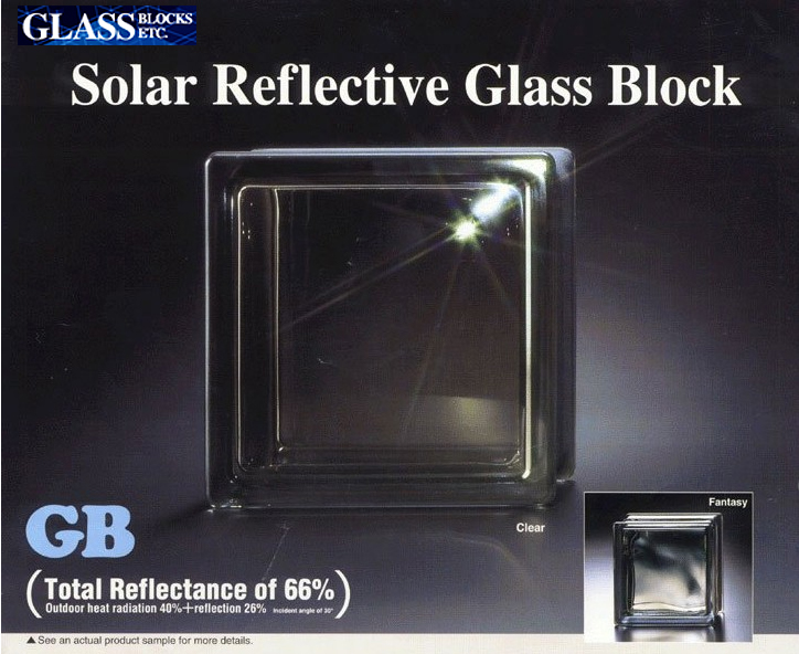 Solar Reflective Glass Block