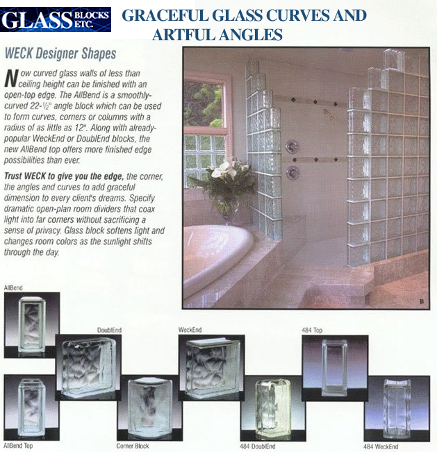 Glass Blocks - Graceful Glass Block Curves and Artful Angles
